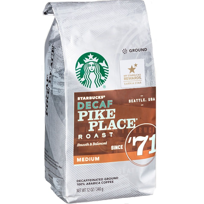 Starbucks Whole Bean Decaf Pike Place thumbnail