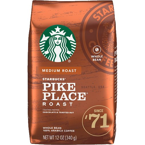 Starbucks Whole Bean Pike Place Roast thumbnail