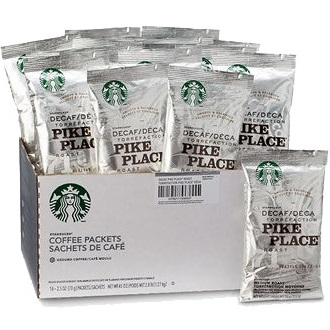 Starbucks Pack Decaf Pike Place 2.5oz thumbnail