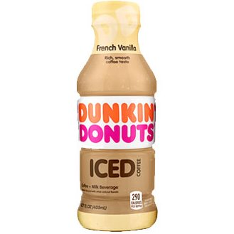 Dunkin Donuts French Vanilla Iced Coffee 13.7oz thumbnail