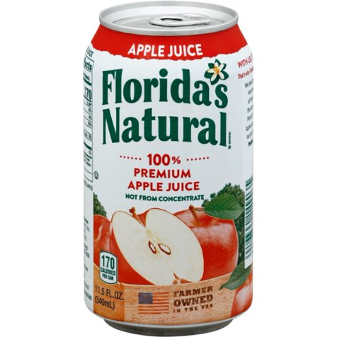 Florida Natural 100% Apple Juice 12oz thumbnail