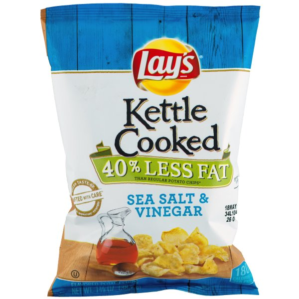 Lays Kettle Reduced Fat Salt & Vinegar Chips thumbnail