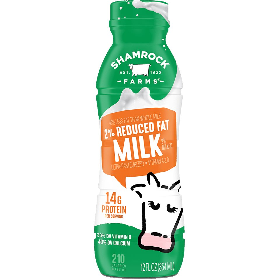 Shamrock 2% White Milk 12oz thumbnail