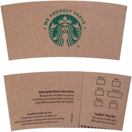 Starbucks Cup Sleeve thumbnail