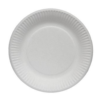 "6"" Paper Plate White thumbnail"