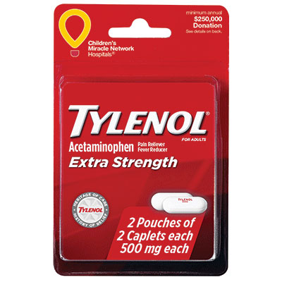 Tylenol Extra Strength 4 Tablets thumbnail
