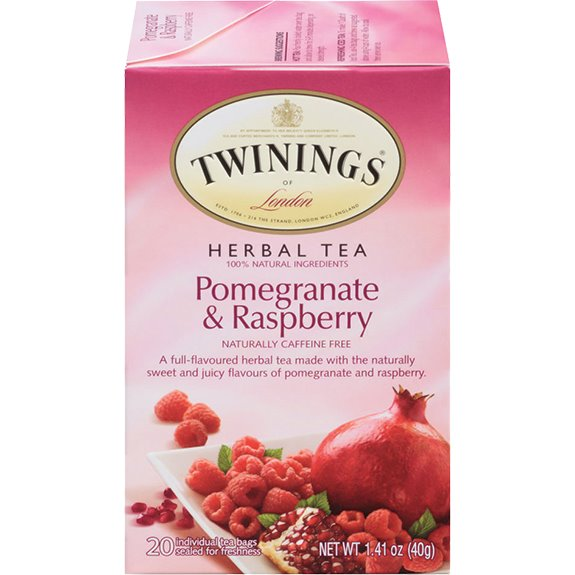 Twining's Herbal Pomegranate & Raspberry Tea 25ct thumbnail