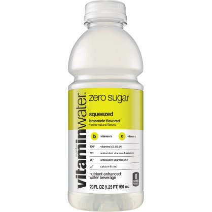 Vitamin Water Squeezed - Lemon (Zero) 20 oz thumbnail