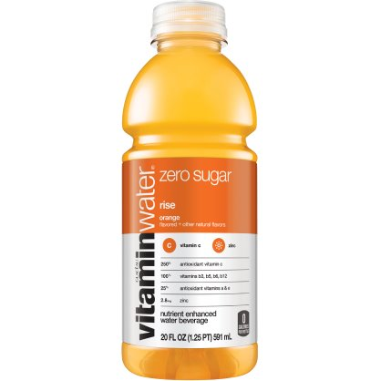Vitamin Water Rise - Orange (Zero) 20 oz thumbnail