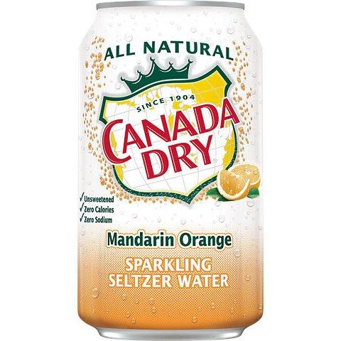 Canada Dry Mandarin Orange Seltzer 12oz thumbnail