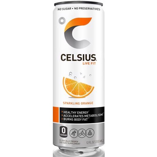 Celsius Sparkling Orange 12oz thumbnail