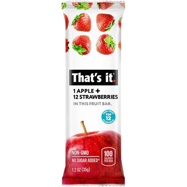 That's It Apple & Strawberry Bar thumbnail