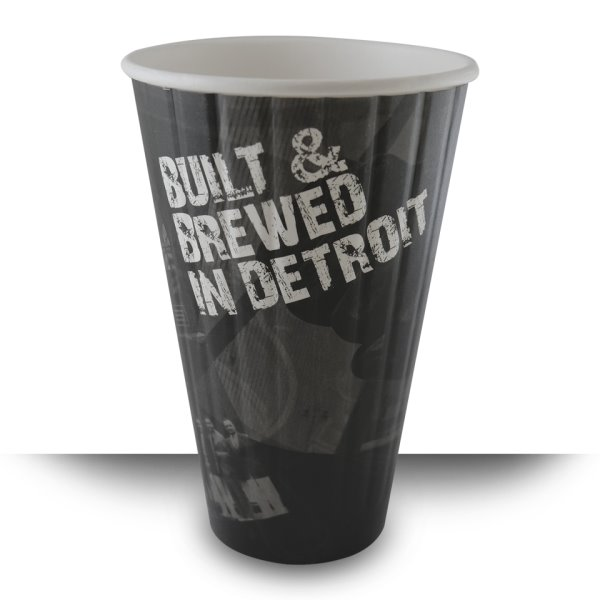 Built & Brewed Double Wide Lid 16oz Hot Cup thumbnail