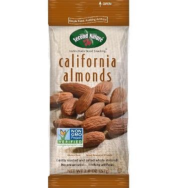 Second Nature Almonds 2oz thumbnail