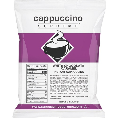 Cappuccino Supreme White Chocolate Caramel 2lb thumbnail