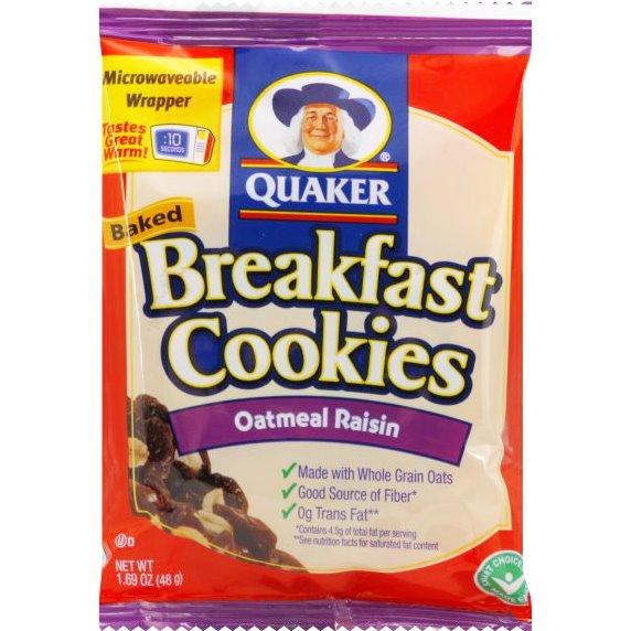 Quaker Breakfast Oatmeal Raisin Cookie 1.69oz thumbnail