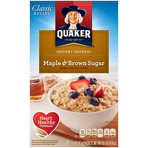 Quaker Oatmeal Maple Brown Sugar thumbnail