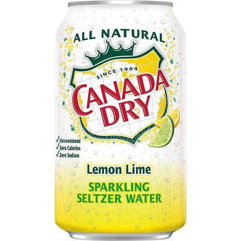 Canada Dry Lemon Lime Seltzer 12oz thumbnail