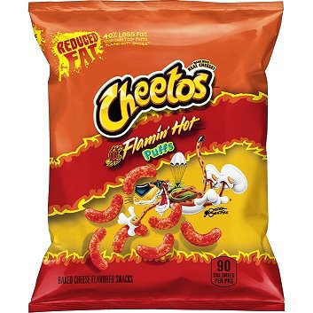 Cheetos Puffs Whole Grain Reduced Fat Flaming Hot thumbnail