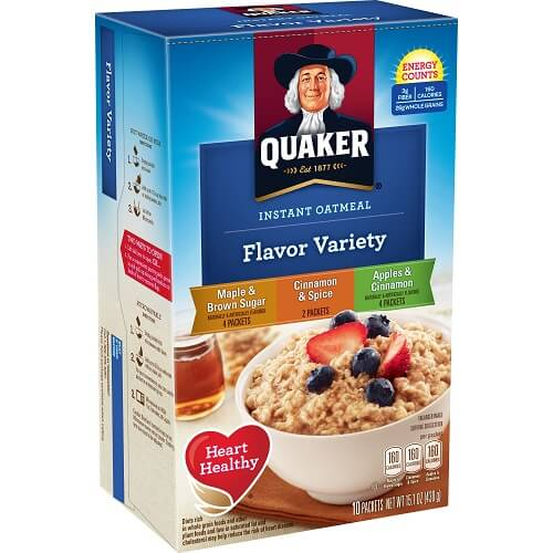 Quaker Assorted Instant Oatmeal thumbnail