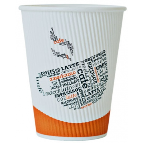 12oz Ripple Hot Cup 500ct thumbnail