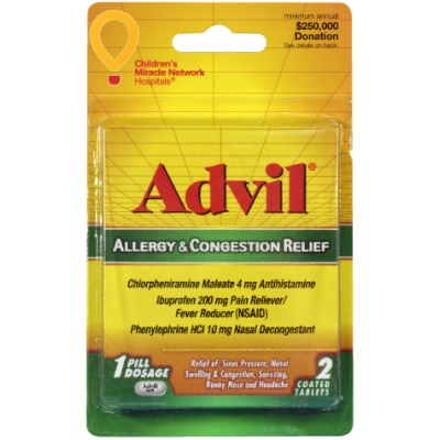 Advil Allergy Congestion 2 tabs thumbnail