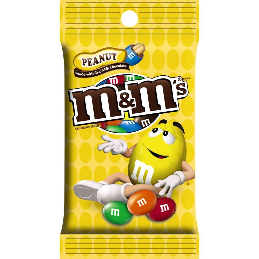 M&Ms Peanut Peg Bag 5.3oz thumbnail