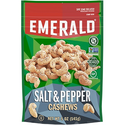 Emerald Salt & Pepper Cashews thumbnail