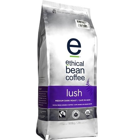 Ethical Bean Lush Coffee Whole Bean 5lb thumbnail