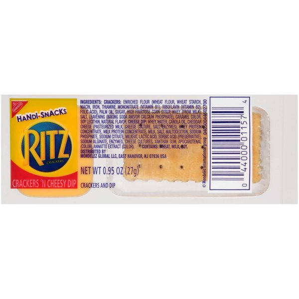 Ritz Crackers n Cheesy Dip 30ct thumbnail