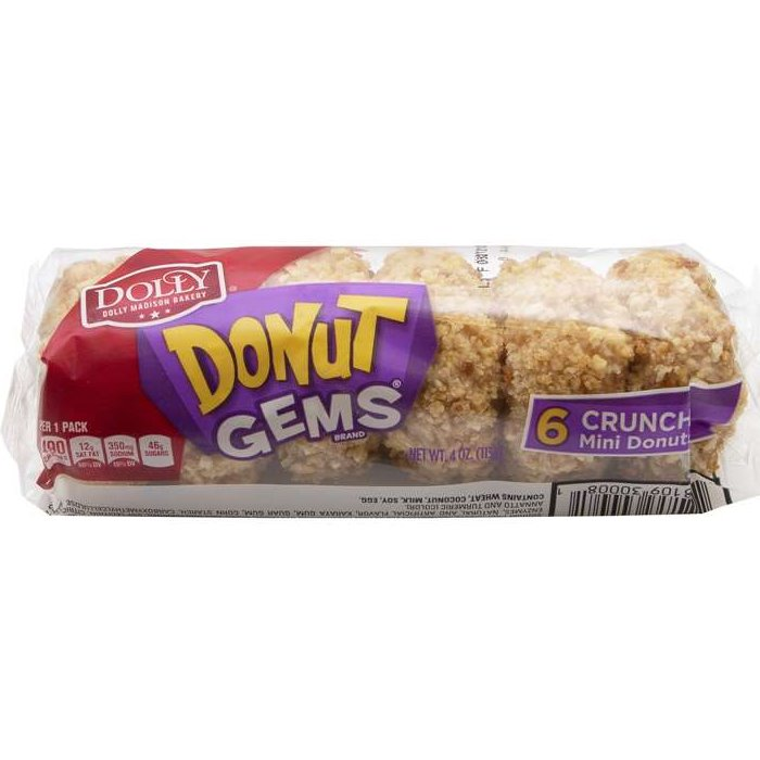 Dolly Madison Donut Mini Crunch Snack Size 6ct thumbnail
