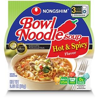 Nongshim Bowl Hot & Spicy Noodle 3oz thumbnail