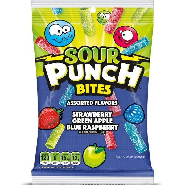 Sour Punch Bites Assorted Peg Bag 5oz thumbnail