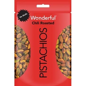 Wonderful Pistachios Chili Roasted No Shell 2.5oz thumbnail