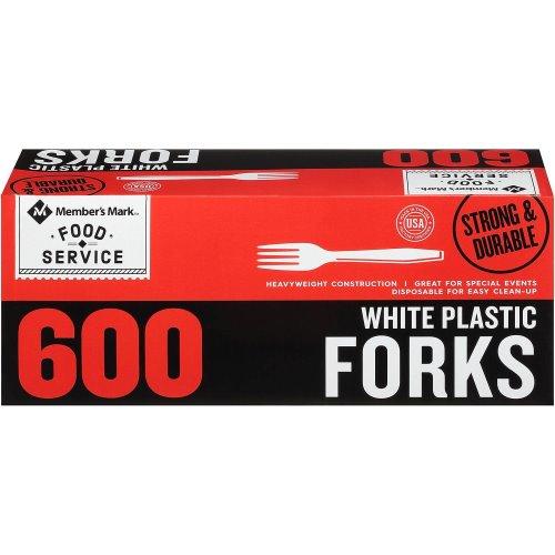 Members Mark Forks White 600ct thumbnail