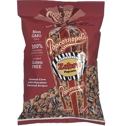 Popcornopolis Zebra Popcorn 3oz Bag thumbnail