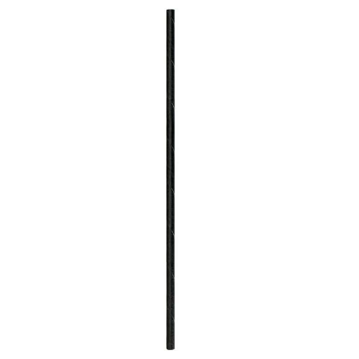 "8"" Slim Black Straws 1000ct thumbnail"