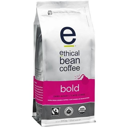 Ethical Bean Whole Bean Bold Coffee 5lb thumbnail
