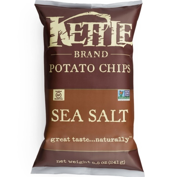 Kettle Brand Chips Sea Salt 2oz thumbnail