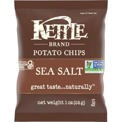 Kettle Brand Chips Sea Salt 1oz thumbnail