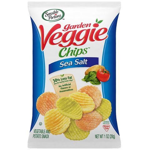 Sensible Portions Veggie Chips Sea Salt 1oz thumbnail