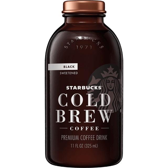 Starbuck's Cold Brew Black Sweet 11oz thumbnail