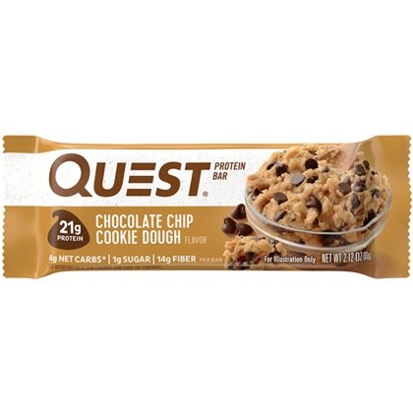 Quest Bar Chocolate Chip Cookie Dough 2.12oz thumbnail