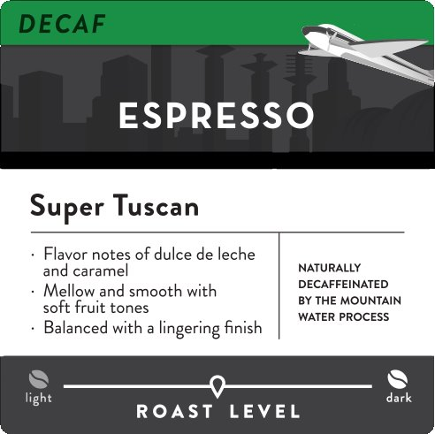 KC Roasterie Super Tuscan DC Whole Bean 5lb thumbnail