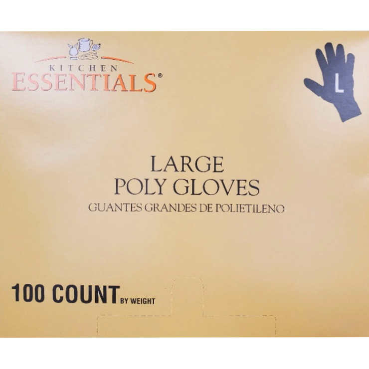 Kitchen Essentials Large Poly Gloves 100ct thumbnail