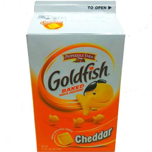 Cheddar Goldfish Crackers (Case of (6) 31oz bags) thumbnail