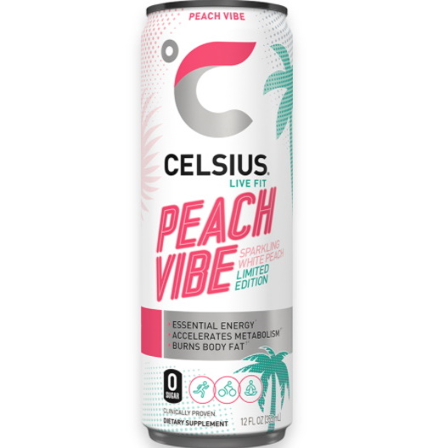 Celsius Sparkling Peach Vibe 12oz thumbnail