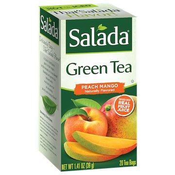 Utica Coffee Roasters Tea Salada Green Peach Mango 20ct thumbnail