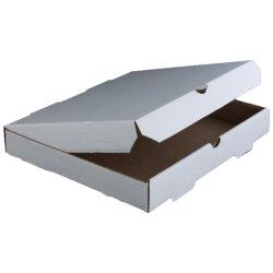 "8"" White Paper Board Pizza Box thumbnail"