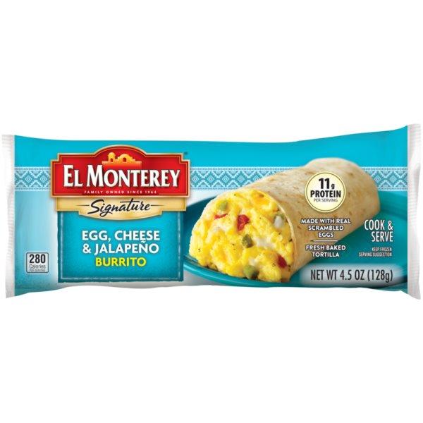 El Monterey Egg Cheese & Jalapeno Breakfast Burrito thumbnail